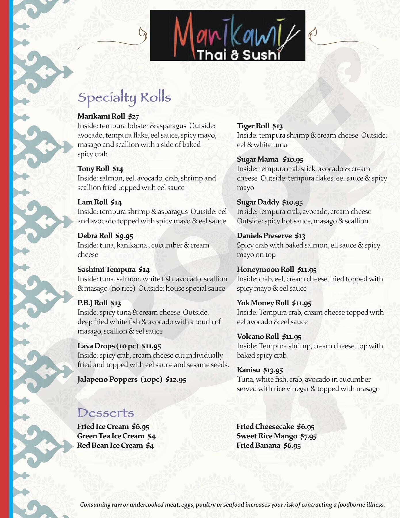 Marikami Thai & Sushi Fort Myers